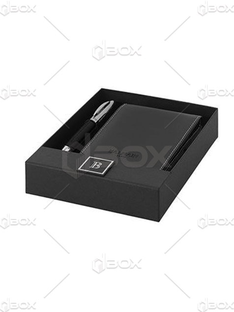 جعبه کیف پول و خودکار